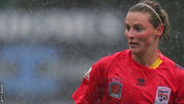 Anna Green in action for Australian side Sydney FC