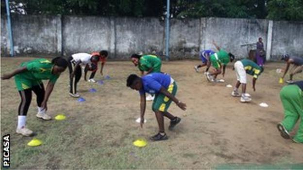 Tanzanian women in practice.