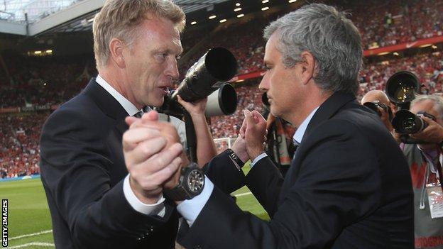 David Moyes and Jose Mourinho