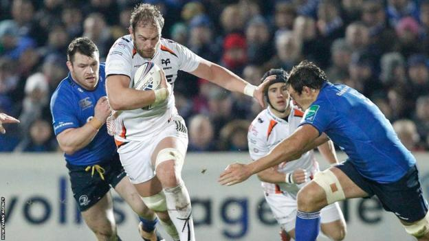 Alun Wyn Jones leads this Ospreys effort, but they lose 36-3 against Leinster