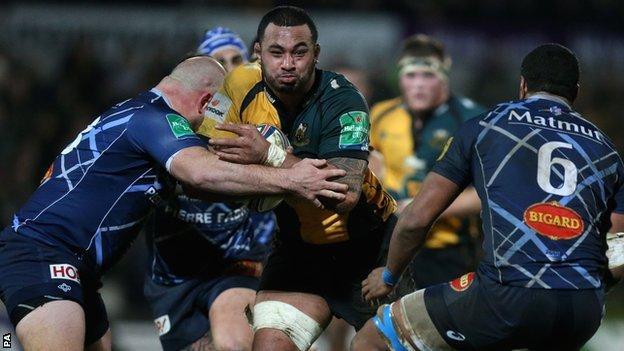Samoa Manu on the charge for Northampton