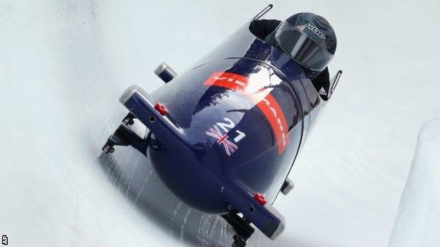 The GB two-man bobsleigh team