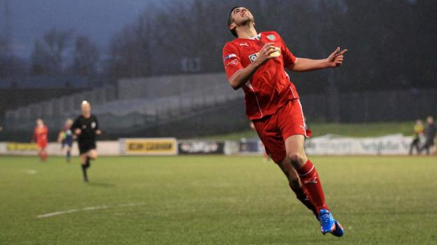 Joe Gormley reacts after missing a chance for Cliftonville during their 1-0 defeat by Portadown in the Irish Premiership