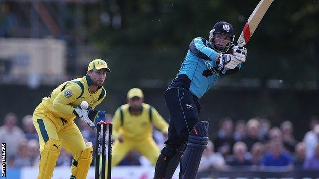 Calum MacLeod hit a century in Scotland's 53-run win over UAE in their World Cup qualifier