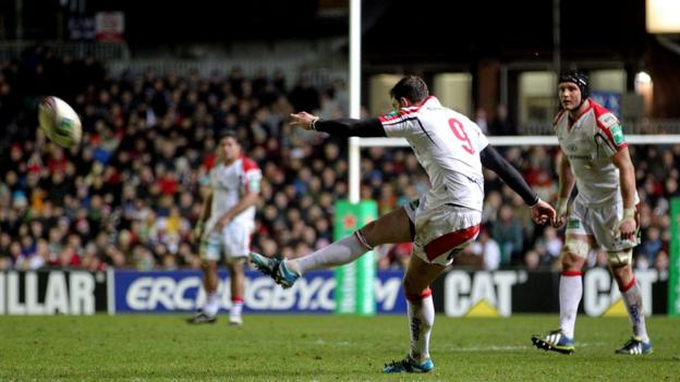 Ulster scrum-half Ruan Pienaar kicked 17 points for Ulster and also scored his side's only try in a 22-19 victory