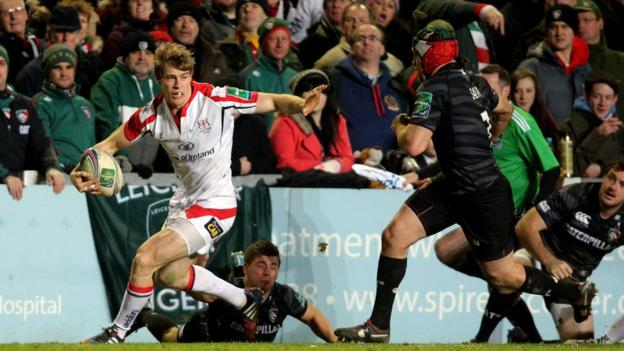 Andrew Trimble looks for support as Ulster battle their way to a three-point win over the English Premiership outfit
