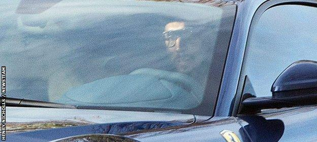 Anelka leaves the West Brom training ground on Tuesday