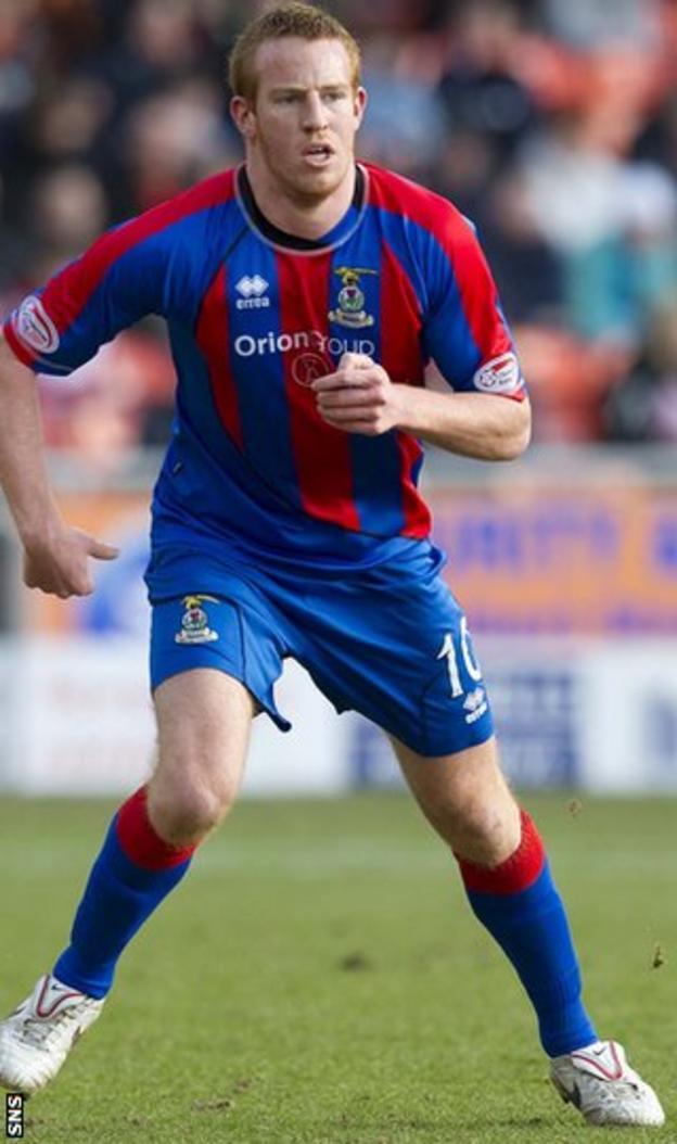 Former Inverness CT forward Adam Rooney