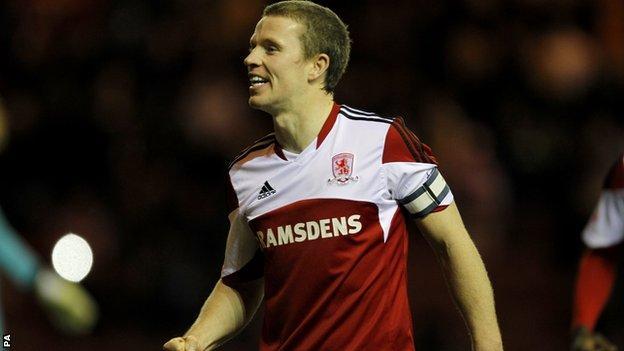 Middlesbrough midfielder Grant Leadbitter
