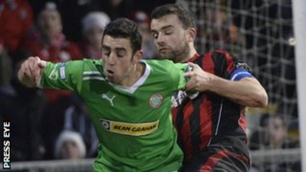 Joe Gormley is the Irish League's top goalscorer with 30 in all competitions