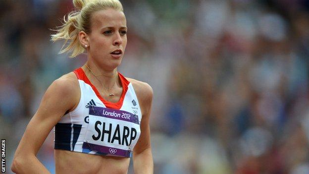 Lynsey Sharp running at the London Olympics