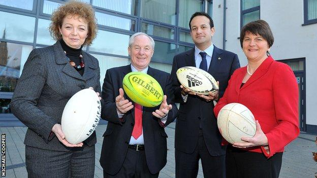 Ministers from both sides of the border have been supportive of the bid to host the Rugby World Cup bid