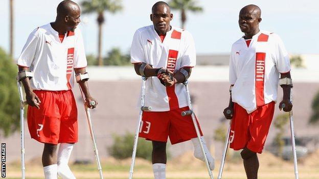 Haiti's amputee football team