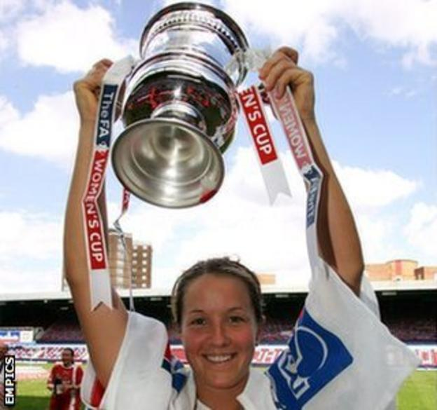 Casey Stoney won the Women's FA Cup with Charlton in 2005