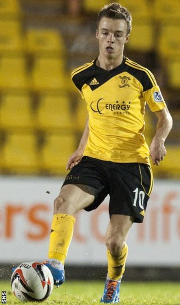 Livingston midfielder Stefan Scougall