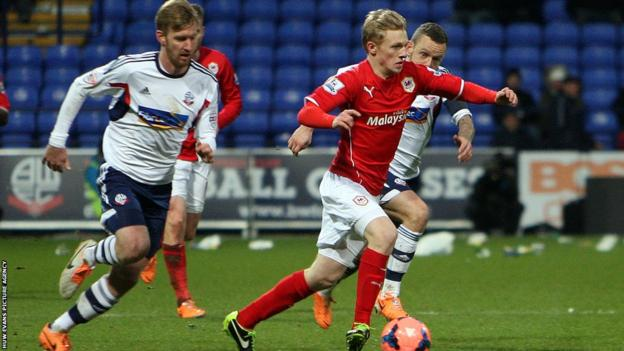 Mats Moller Daehli, along with Norwegian compatriot Magnus Wolff Eikrem, made their Cardiff City debuts at Bolton.