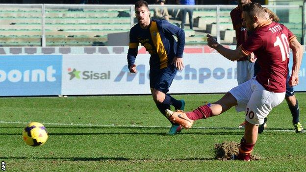 Roma's Francesco Totti