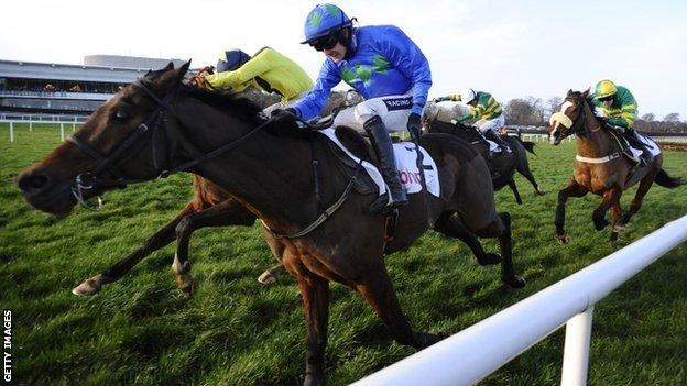 Hurricane Fly gets up to win the Irish Champion Hurdle