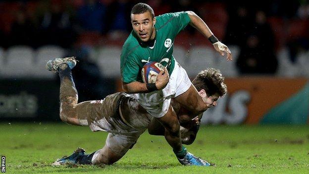 Ireland winger Simon Zebo
