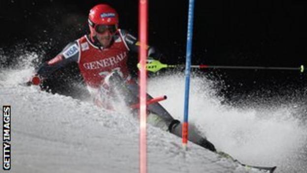 Bode Miller in action in Kitzbuehel