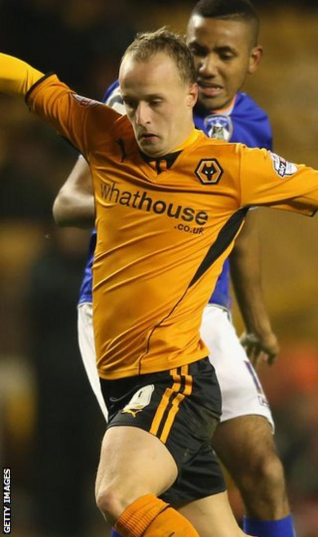 Leigh Griffiths in action for Wolves
