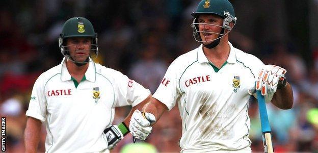 AB de Villiers and Graeme Smith