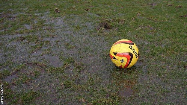 The pitch at Northampton Town's Sixfields Stadium