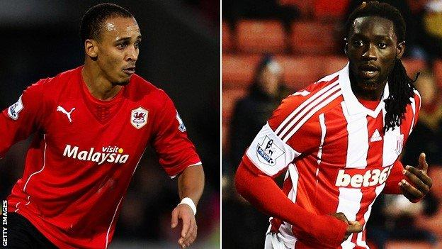 Peter Odemwingie has joined Stoke in a swap deal that has seen Potters striker Kenwyne Jones go the other way