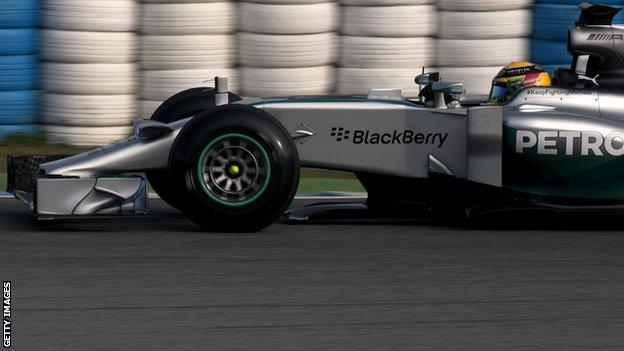 New nose on Mercedes car