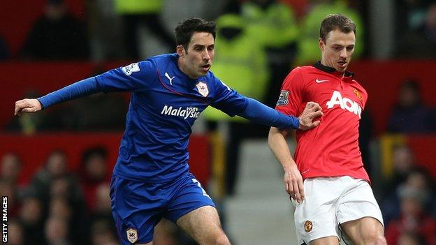 Peter Whittingham in action against Manchester United