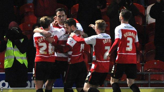 Doncaster Rovers celebrate against Charlton