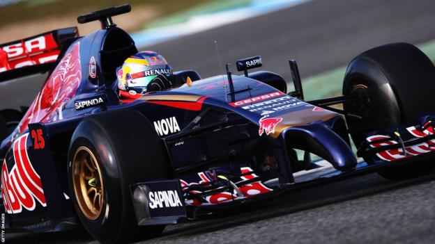 Jean-Eric Vergne of France and Scuderia Toro Rosso drives the new STR9 during day one at Jerez