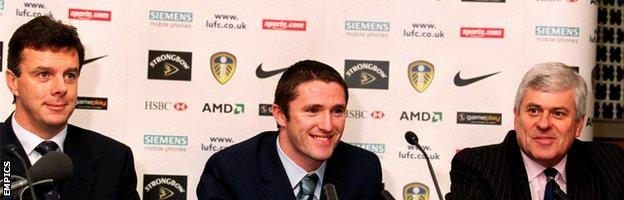David O'Leary, Robbie Keane and Peter Ridsdale