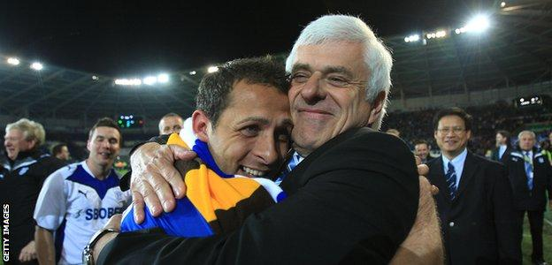 Michael Chopra and Peter Ridsdale
