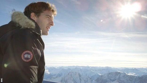 Dan Snow at Garmisch-Partenkirchen
