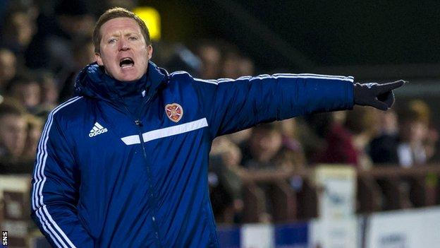 Gary Locke felt the backing from the Tynecastle stands helped away the result Hearts way.