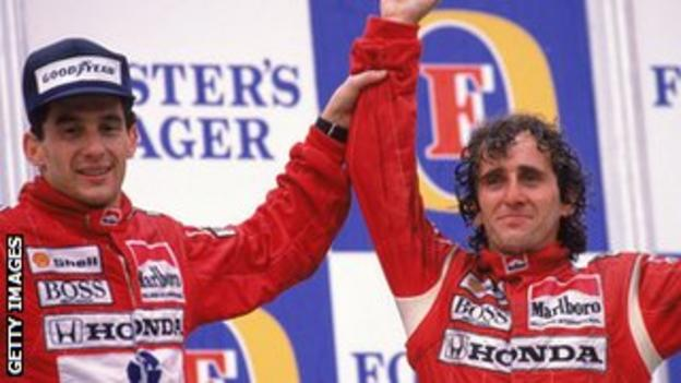 Alain Prost thanks former rival Ayrton Senna for helping him to reach the heights he did in F1