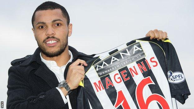 St Mirren forward Josh Magennis