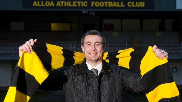Alloa Athletic manager Barry Smith