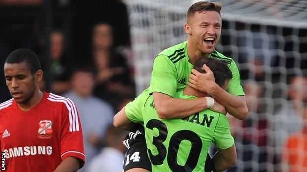 Matty Taylor scores for Forest Green