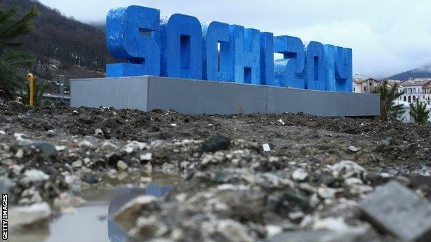 A Sochi 2014 sign