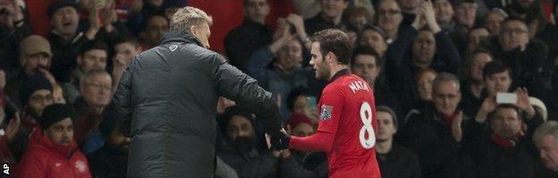 David Moyes and Juan Mata