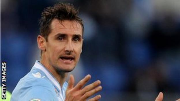 Lazio forward Miroslav Klose