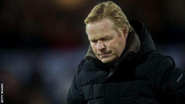 Feyenoord's Dutch coach Ronald Koeman