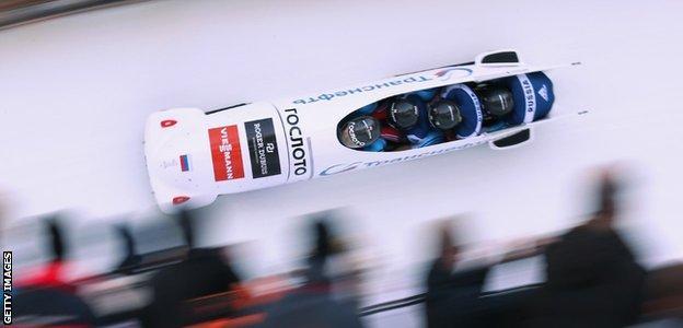 Alexey Voevoda in bobsleigh