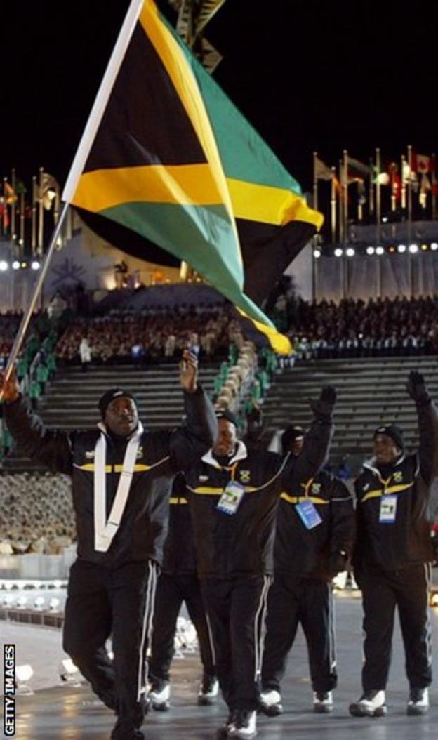Winston Watts and Jamaican team