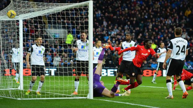 And within a minute and a half Cardiff were ahead as Kenwyne Jones scored his first goal for the club who went on to record a priceless 2-1 home win