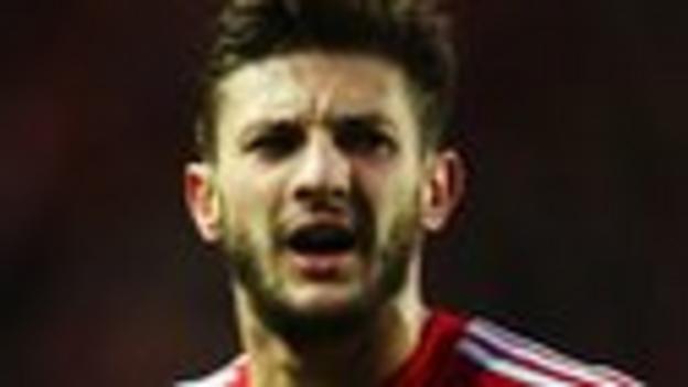Southampton forward Adam Lallana