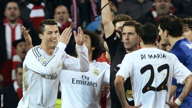 Cristiano Ronaldo sent off