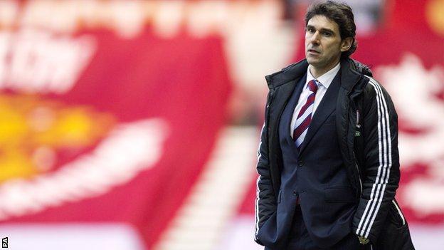 Middlesbrough head coach Aitor Karanka